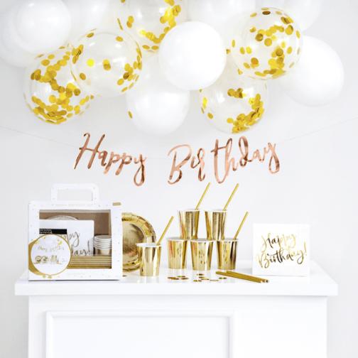 Σετ Happy Birthday – Χρυσό