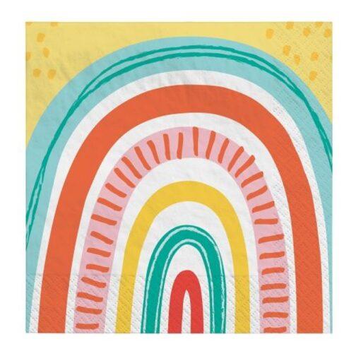 Χαρτοπετσέτες – Retro Rainbow <br>(16 τμχ)