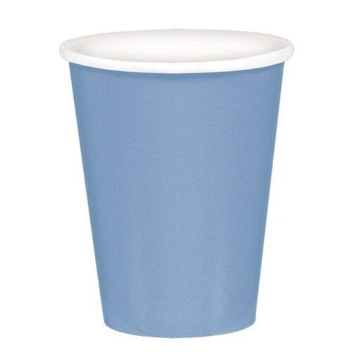 Χάρτινα Ποτήρια – Παστέλ Μπλε <br> (8 τμχ)