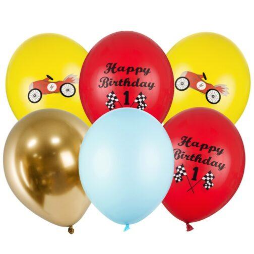 Μπαλόνια – <br> Αγωνιστικό Αυτοκίνητο (6 τμχ)