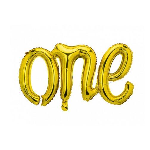 Μπαλόνι foil – One Χρυσό