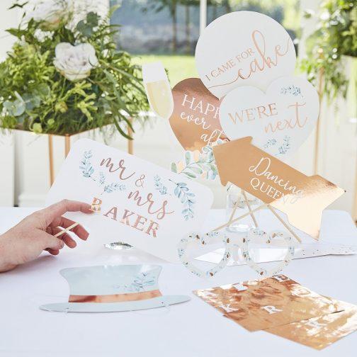 Photo Booth Γάμου – Προσωποποιημένο Ροζ Χρυσό