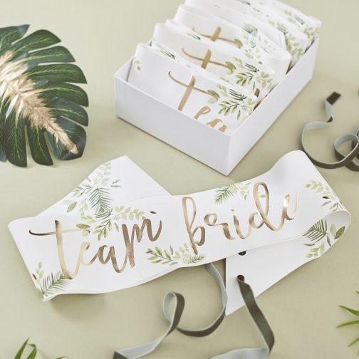 Σετ Κορδέλες – Team Bride <br> Botanical (6 τμχ)