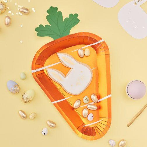 Χάρτινα Πιάτα – Καρότο (8 τμχ)