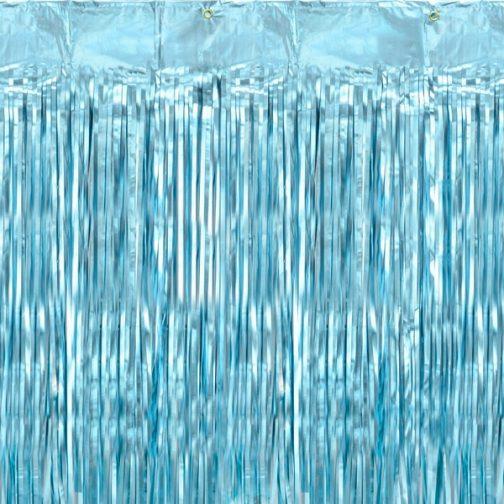 Γαλάζια Διακοσμητική Κουρτίνα