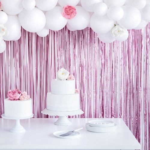 Ροζ Διακοσμητική Κουρτίνα