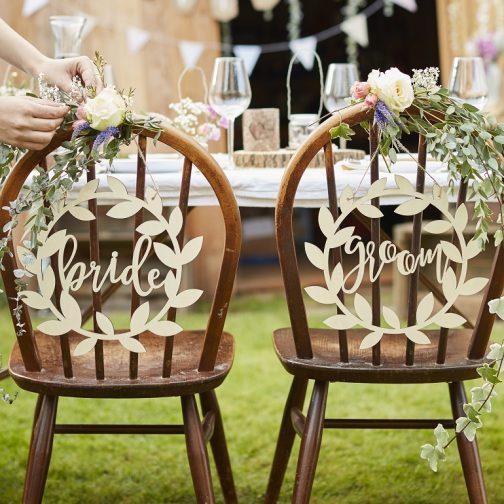 Ξύλινες Πινακίδες Bride – Groom