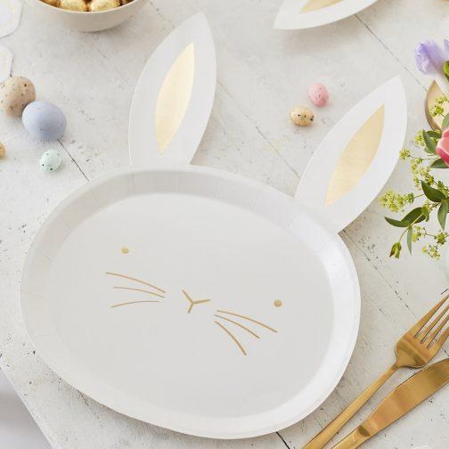 Χάρτινα Πιάτα – Λαγουδάκι (8 τμχ)