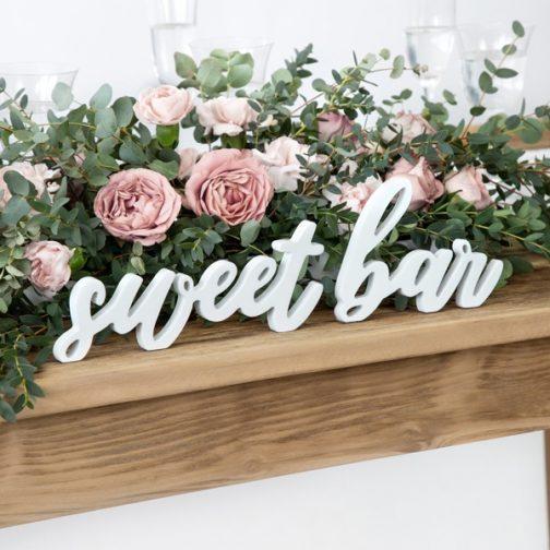 Ξύλινα Γράμματα – Sweet Bar
