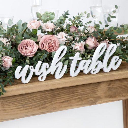 Ξύλινα Γράμματα – Wish Table