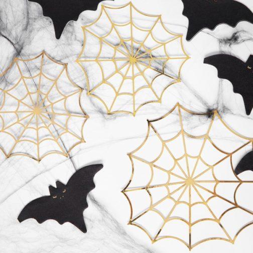 Διακοσμητικοί Ιστοί Αράχνης – Χρυσό (3 τμχ)
