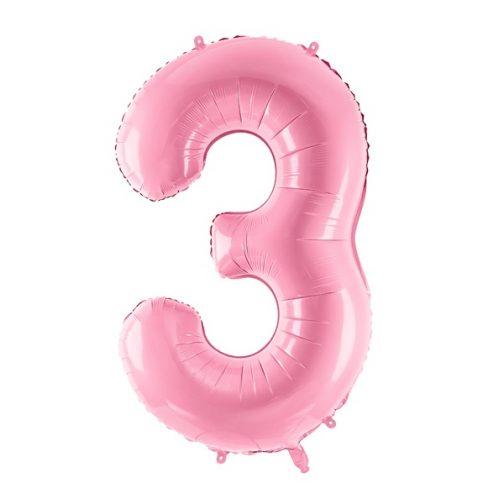 Μπαλόνι Αριθμός 3 Ροζ – 86cm