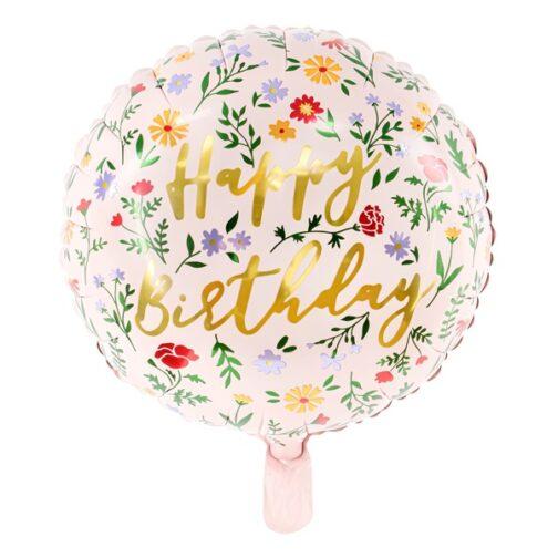 Μπαλόνι foil – Happy Birthday Floral