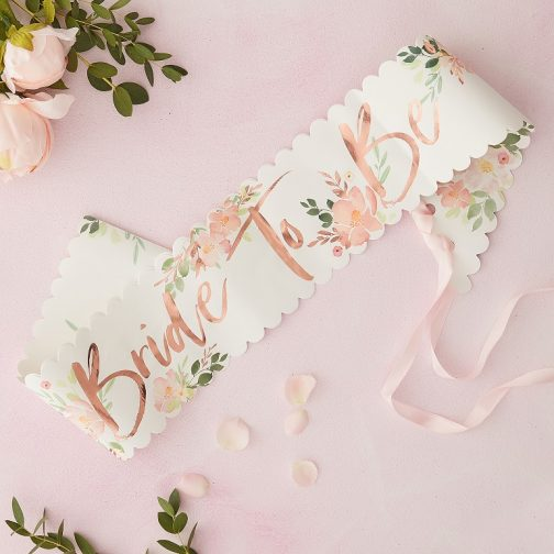 Κορδέλα Bride To Be – <br> Team Bride Floral