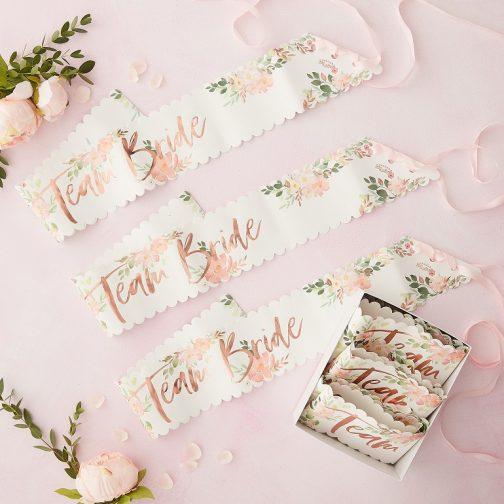 Σετ Κορδέλες – Team Bride Floral <br> (6 τμχ)