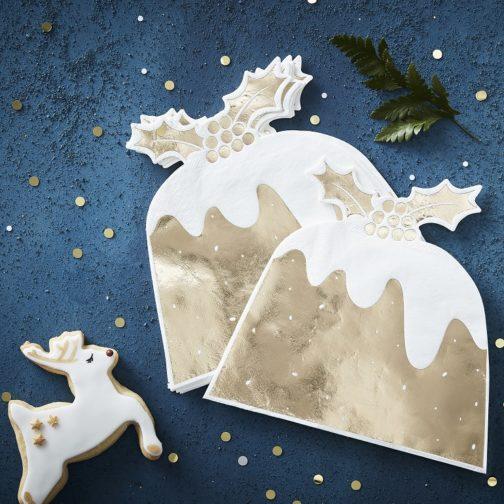 Χαρτοπετσέτες – Χρυσή Πουτίγκα με Γκι (12 τμχ)