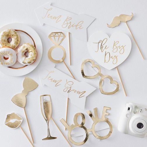 Photo Booth Γάμου – Gold Love