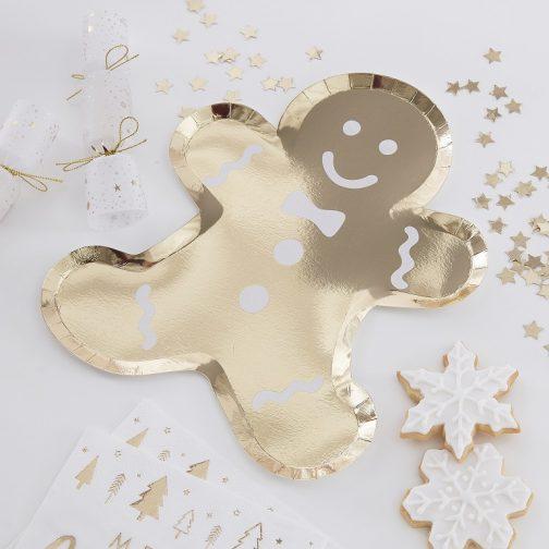Χάρτινα Πιάτα – Gingerbread <br> (8 τμχ)
