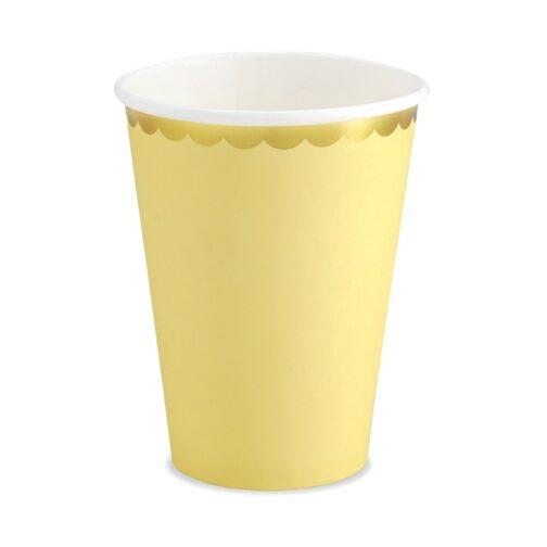 Χάρτινα Ποτήρια – Κίτρινα <br>(6 τμχ)
