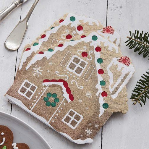Χαρτοπετσέτες – Gingerbread House (16 τμχ)