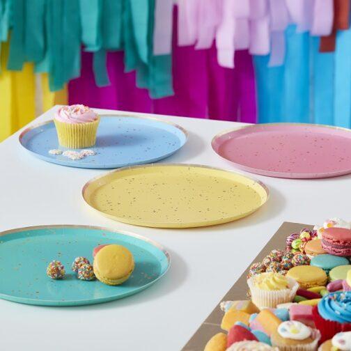 Χάρτινα Πιάτα – Multicolour (8 τμχ)