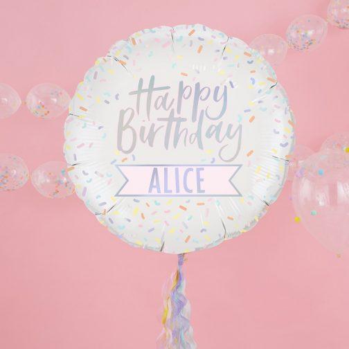 Μπαλόνι foil Happy Birthday Προσωποποιημένο