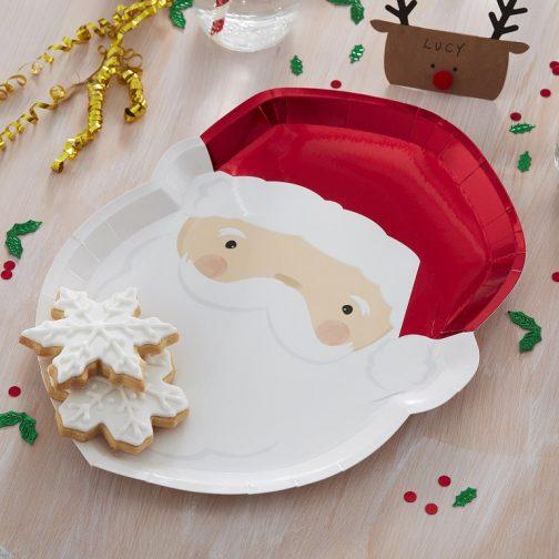 Χάρτινα Πιάτα – Άγιος Βασίλης <br> (8 τμχ)