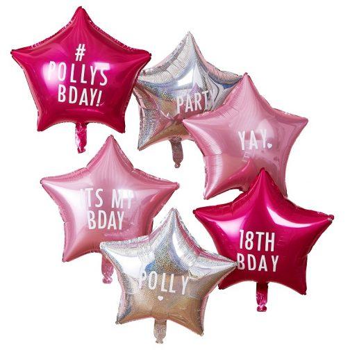 Μπαλόνια foil – Αστέρια Προσωποποιημένα (6 τμχ)