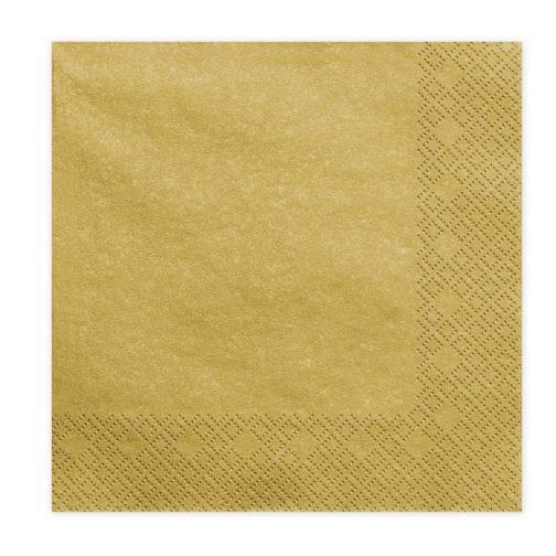 Χαρτοπετσέτες – Χρυσές (20 τμχ)