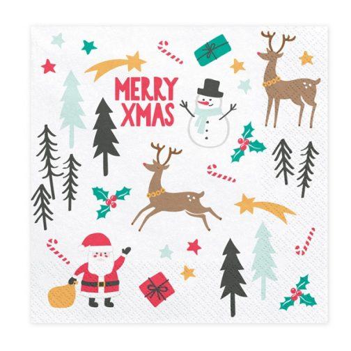 Χαρτοπετσέτες – Merry Christmas <br> (20 τμχ)
