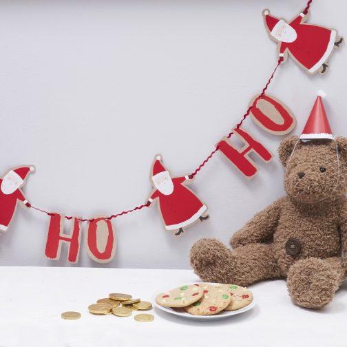 Χάρτινη Γιρλάντα Ho Ho Ho – Άγιος Βασίλης