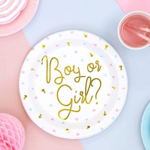 Χάρτινα Πιάτα – Boy or Girl? <br>(6 τμχ)
