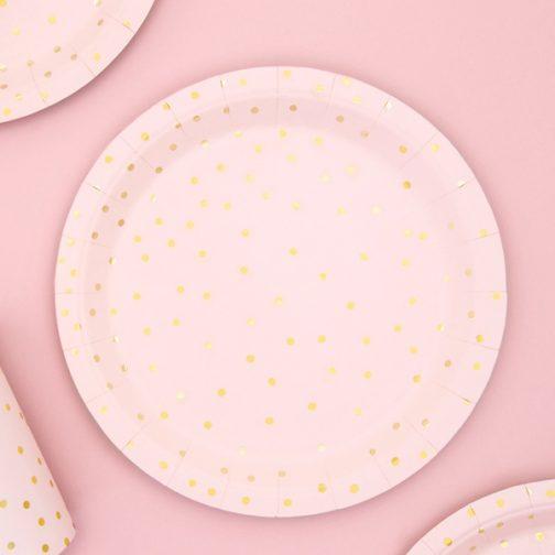 Χάρτινα Πιάτα Γλυκού – <br>Pamper Party (6 τμχ)