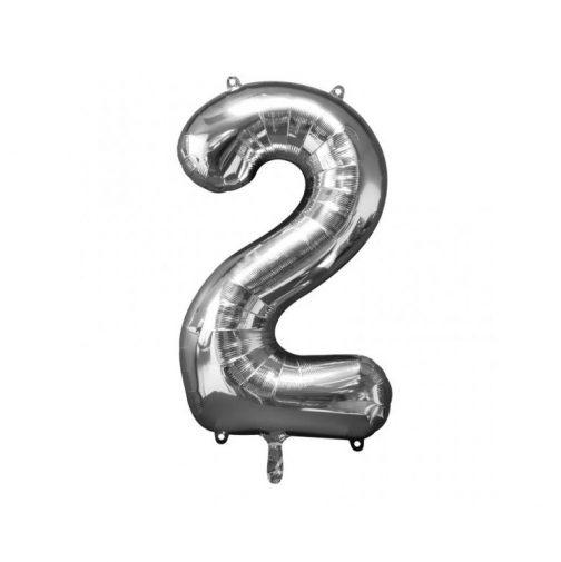 Μπαλόνι Αριθμός 2 ασημί – 88cm