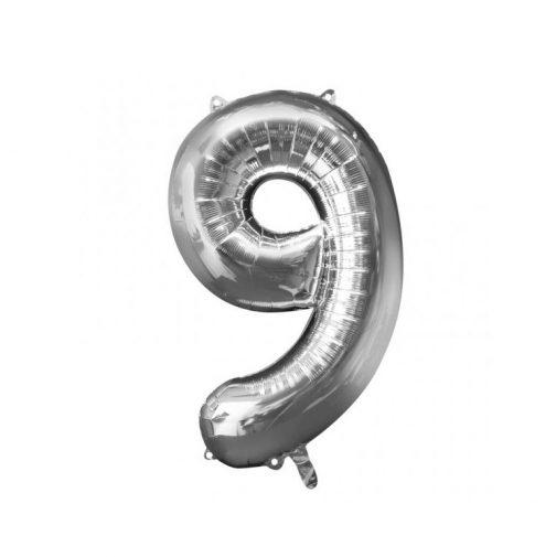 Μπαλόνι Αριθμός 9 ασημί – 88cm