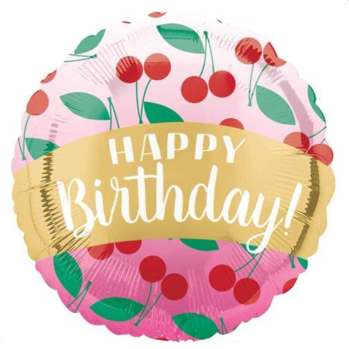 Μπαλόνι foil – Happy Birthday Cherry