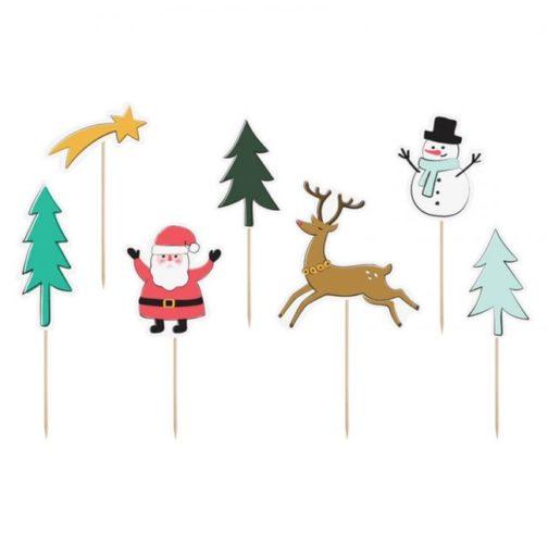 Διακοσμητικά Sticks για Γλυκά – Merry Christmas