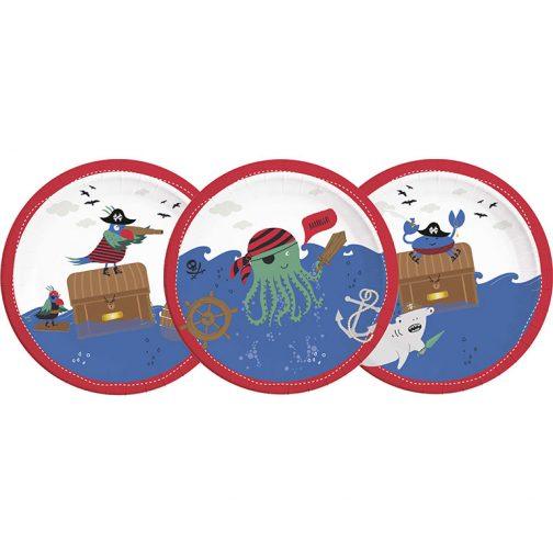 Χάρτινα Πιάτα – Πειρατές της Θάλασσας (8 τμχ)