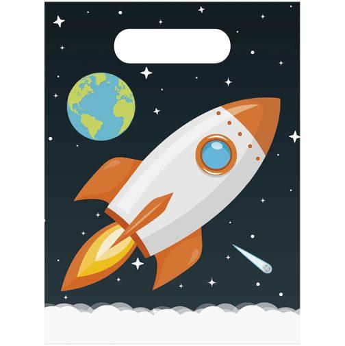 Σακουλάκια δώρων – Διάστημα <br> (6 τμχ)