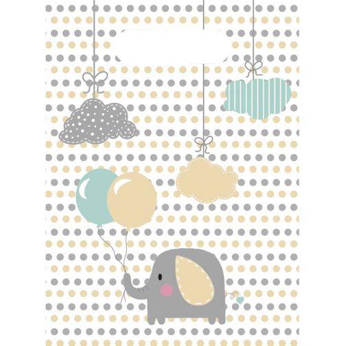 Σακουλάκια δώρων – Ελεφαντάκι <br> (6 τμχ)
