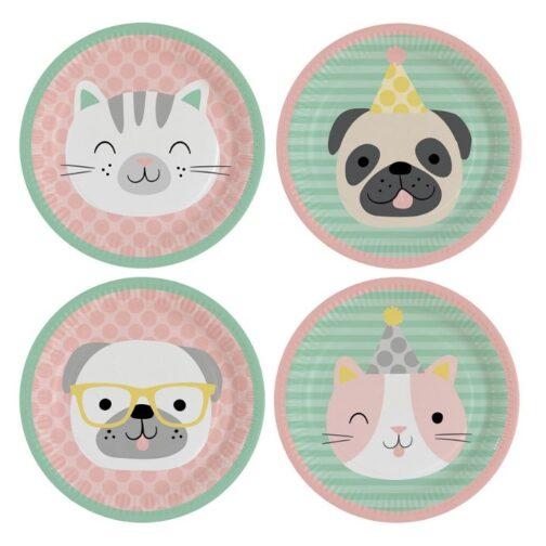 Χάρτινα Πιάτα – Hello Pets (8 τμχ)
