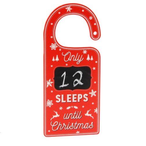 """Ξύλινο Διακοσμητικό – <br>""""Only.. Sleeps Until Christmas"""""""