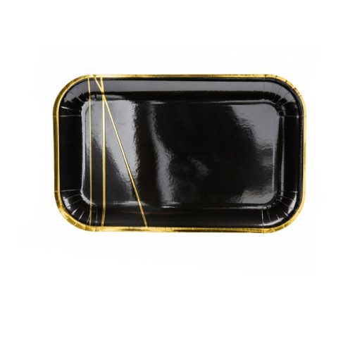 Χάρτινα Πιάτα – Μαύρο Χρυσό <br> (6 τμχ)