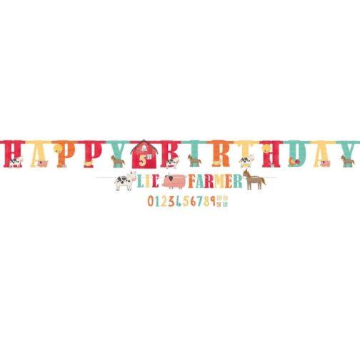 Γιρλάντα Happy Birthday – <br>Ζωάκια Της Φάρμας