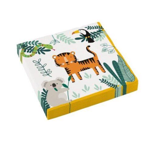 Χαρτοπετσέτες – <br>Ζωάκια Της Ζούγκλας (16 τμχ)