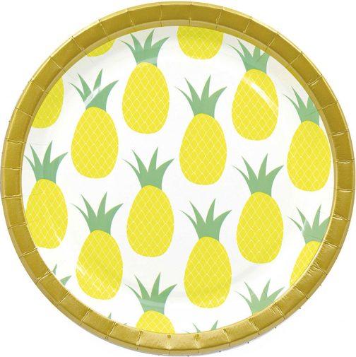 Χάρτινα Πιάτα – Ανανάς (8 τμχ)