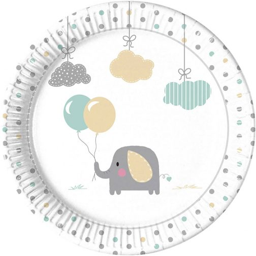 Χάρτινα Πιάτα – Ελεφαντάκι <br> (8 τμχ)