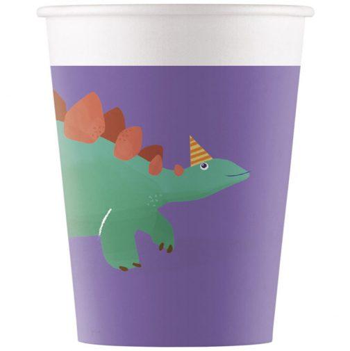 Χάρτινα Ποτήρια – Δεινόσαυροι Eco (8 τμχ)