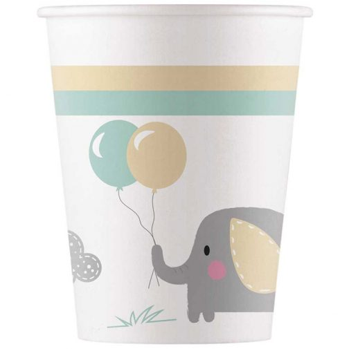 Χάρτινα Ποτήρια – Ελεφαντάκι <br> (8 τμχ)