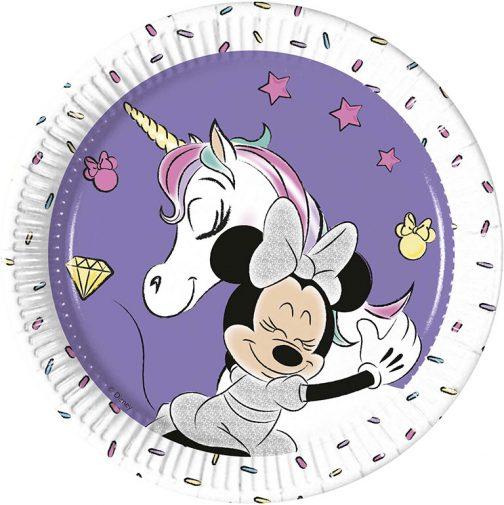 Χάρτινα Πιάτα Γλυκού – Minnie Μονόκερος (8 τμχ)